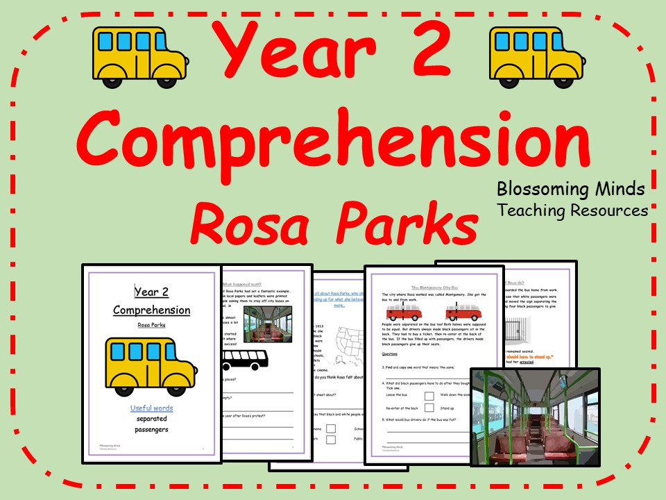 Year 2 Comprehension - Rosa Parks - Differentiated Levels