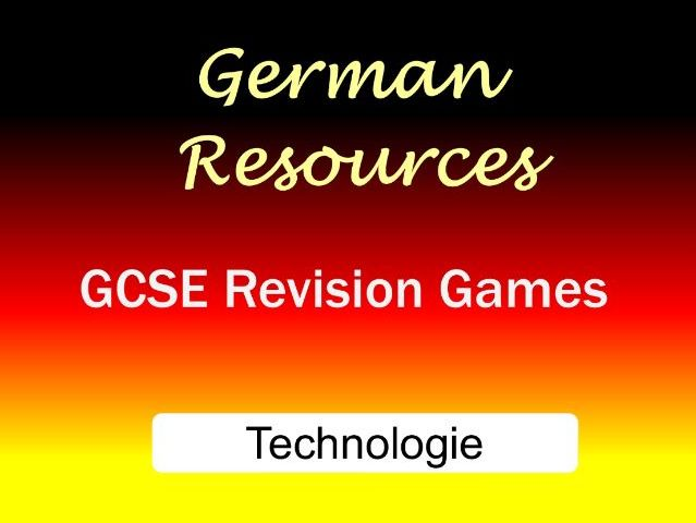 German GCSE - Revision Games - Cluedo - Technologie - Technology