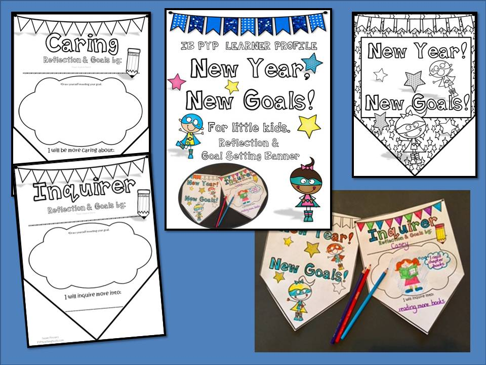 New Year, New Goals! Create Your Own  IB PYP Goals Display for Little Kids