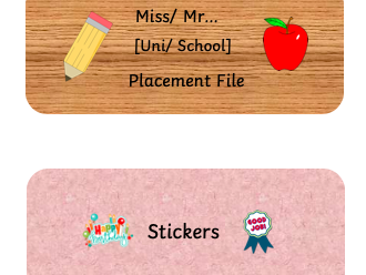 Placement/ teaching file separator labels
