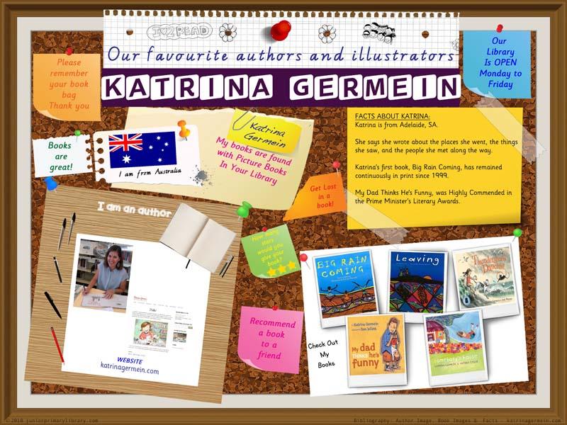 Library Poster - Katrina Germein Australian Children's Author