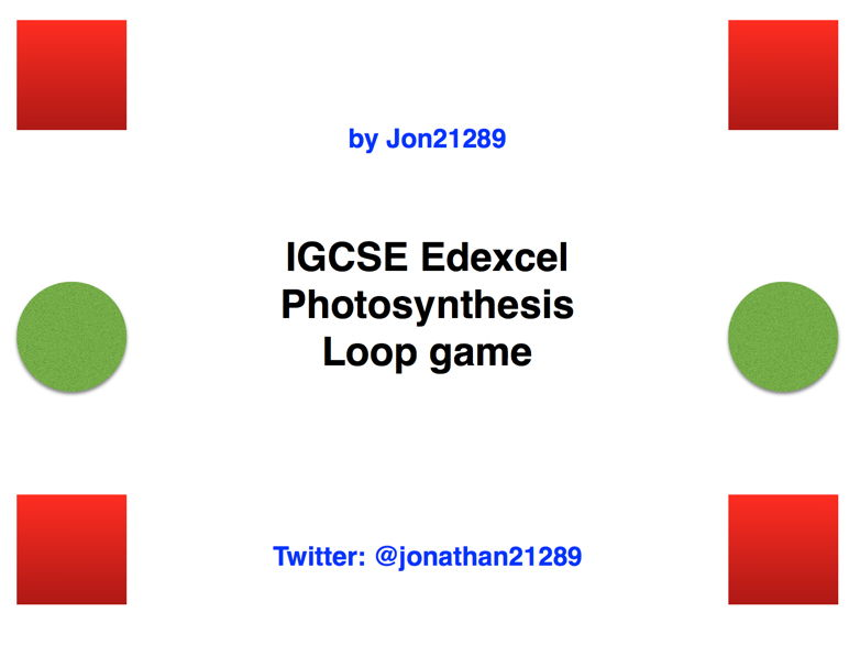 IGCSE Edexcel Photosynthesis Revision Loop Game