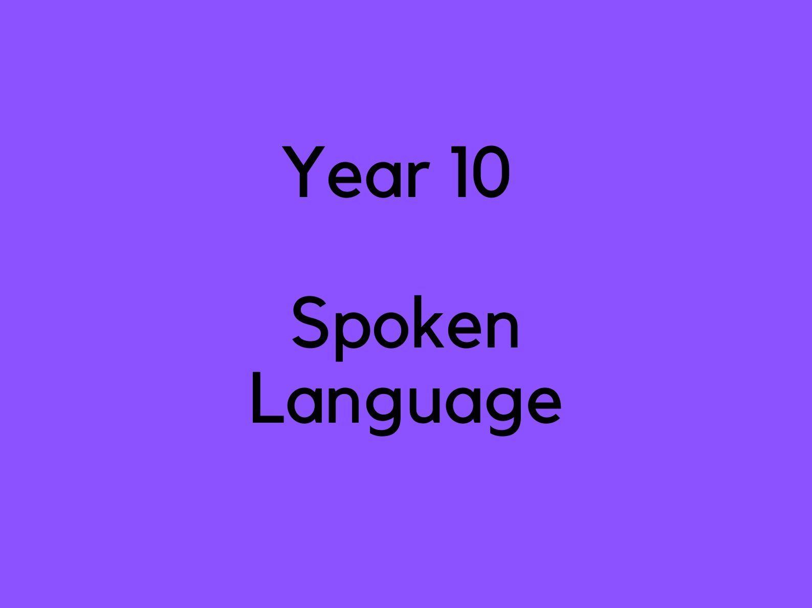 Spoken Language Analysis