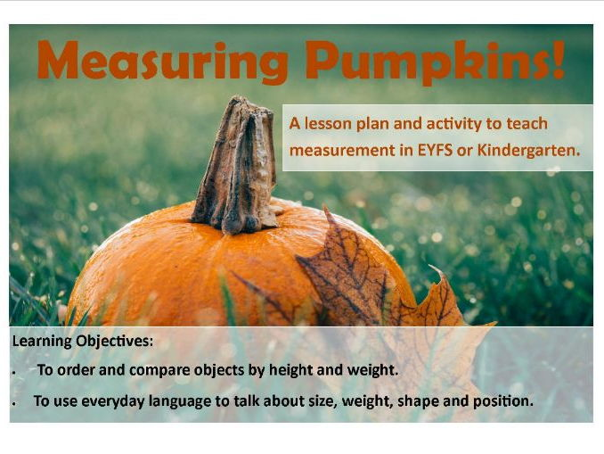 Measuring Pumpkins for Halloween