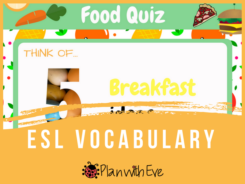 ESL Food Vocabulary Fun Bundle!
