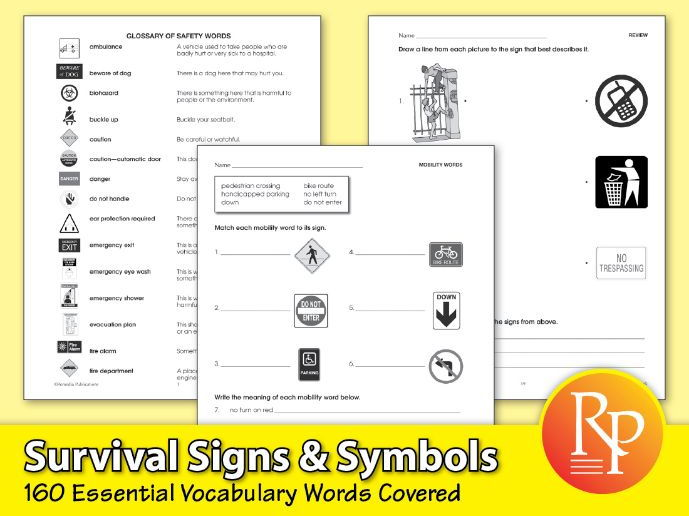Survival Signs & Symbols: Essential Vocabulary