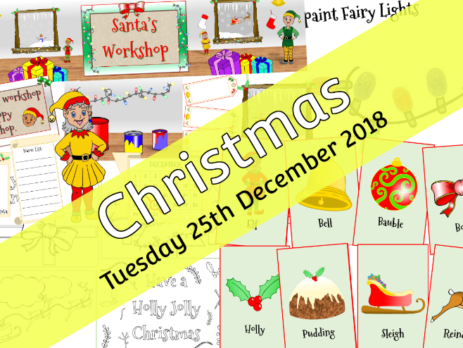 EDITABLE CHRISTMAS PACK - 1 - Early Years - 8 files included!