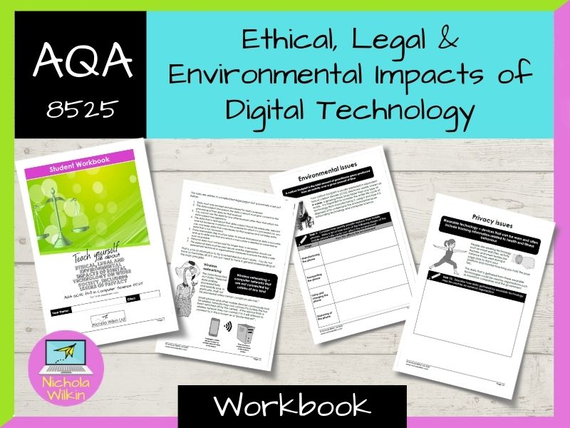 Ethical, Legal and Environmental Impacts AQA GCSE Computer Science Workbook (8525)
