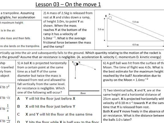 A level Physics - Y12 (30 review lessons)