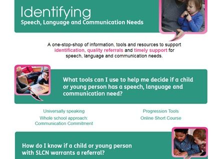 Identifying speech, language and communication needs