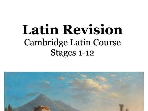 Cambridge Latin Course  Book One - independent revision workbook