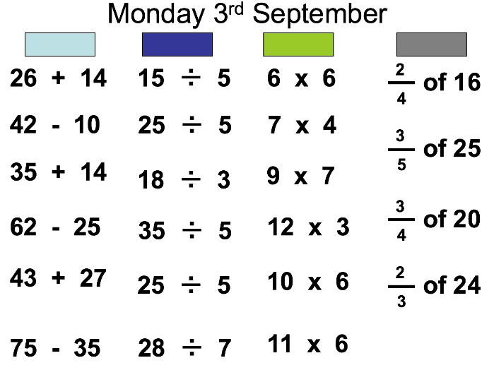 Mental Maths Powerpoints- x 25 (Set 1)