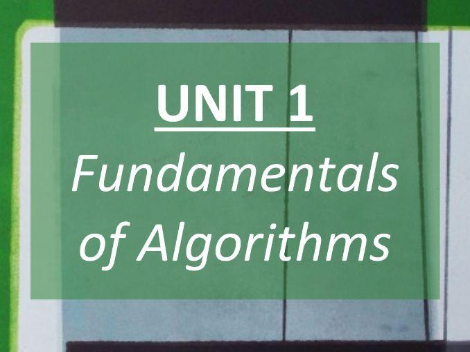 Algorithms (Unit 1) - COMPLETE REVISION GUIDE - GCSE AQA Computer Science