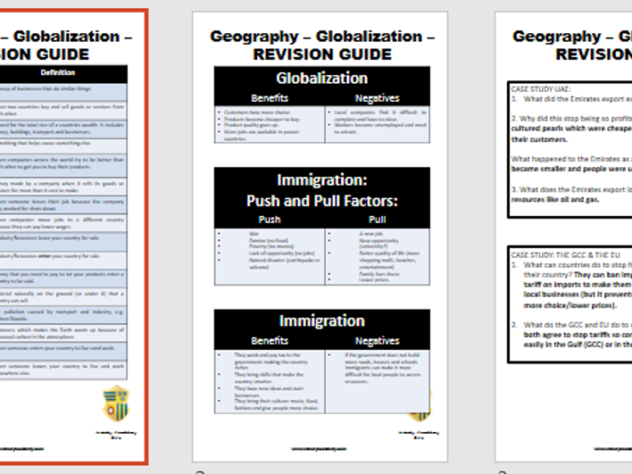 Globalisation - Revision Guide