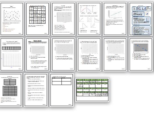 Functional skills of GCSE maths scattergraphs workbook