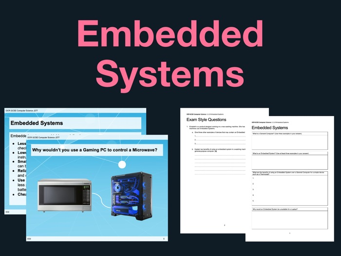 J277 GCSE Computer Science 1.1.3 Embedded Systems - Lesson