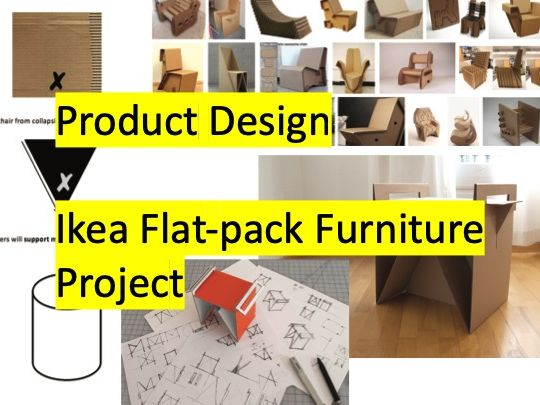 Product Design - Ikea Flat Pack Cardboard Furniture Project