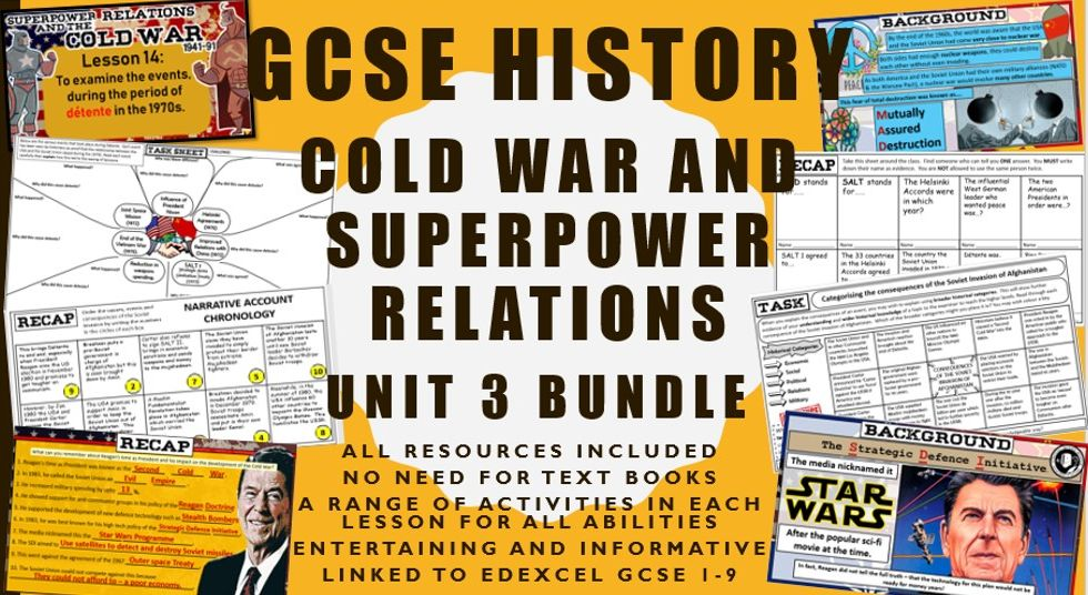 GCSE History Edexcel Cold War Unit 3 Bundle