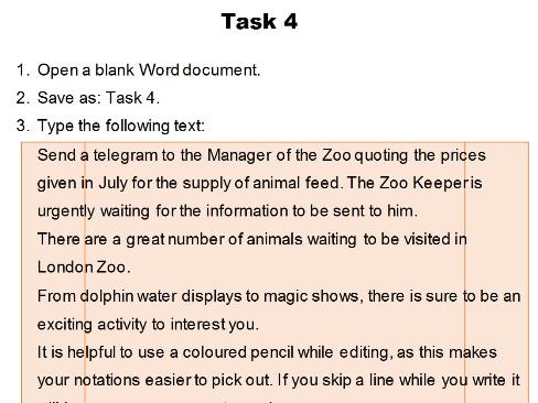 Formatting Exercise - Task 4