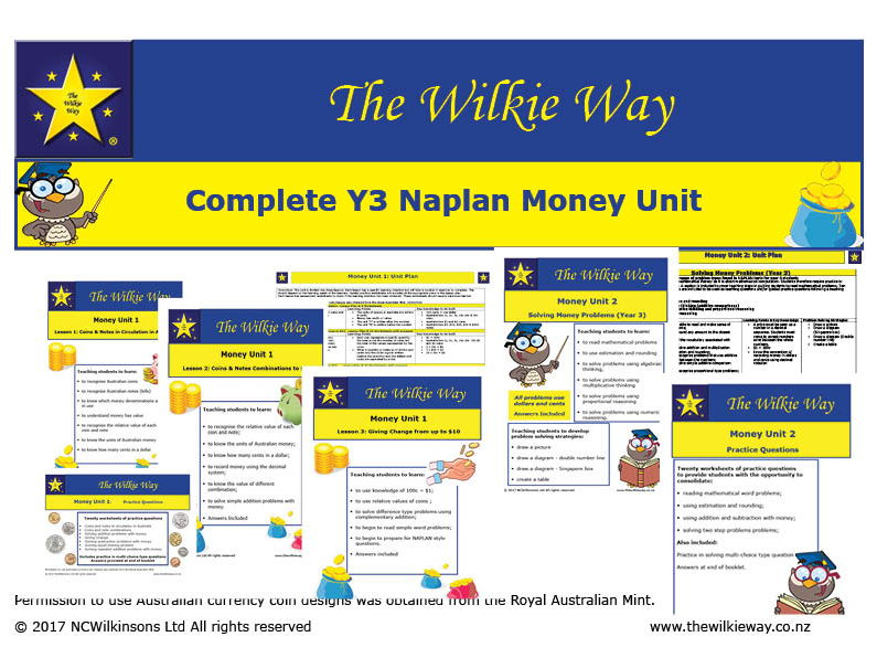 The Compete NAPLAN Y3 Money Bundle