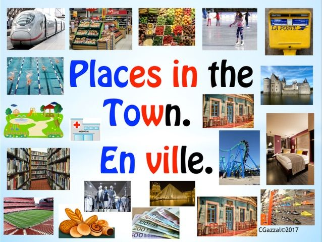 French – Places in the Town / En Ville.