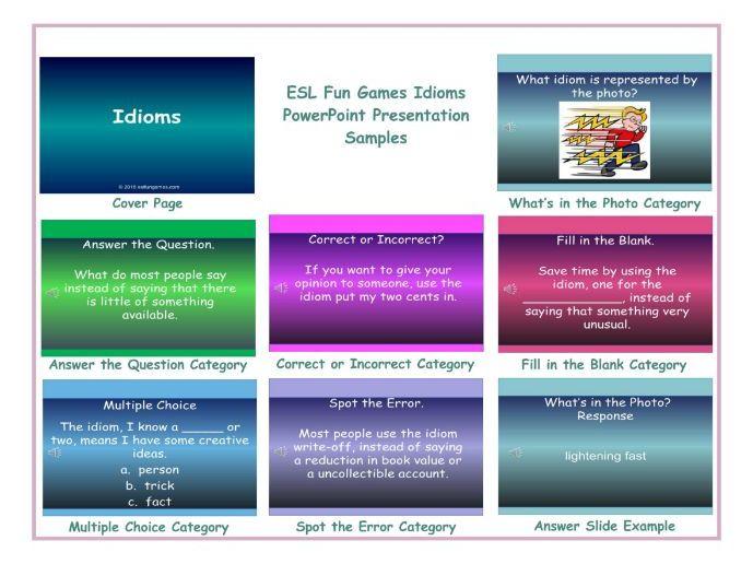Idioms PowerPoint Presentation