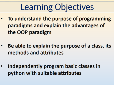 OOP Python - A Level - Object-oriented Programming