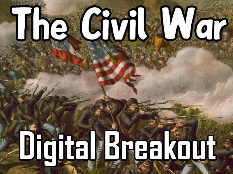 US Civil War digital breakout game