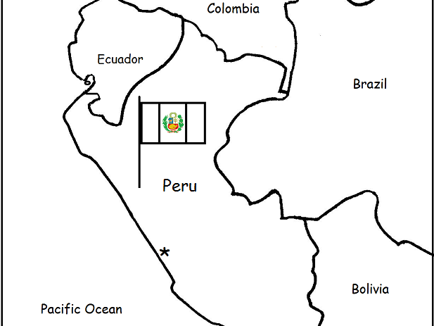 PERU - Printable handouts with map and flag