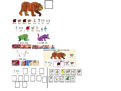''Brown Bear, Brown Bear, What Do You See?'' story and activities for SEN learners  - widgit visuals