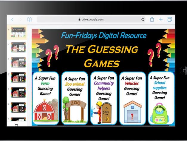 Virtual 'Who am I?' Guessing Games – 55 Editable Google Slide