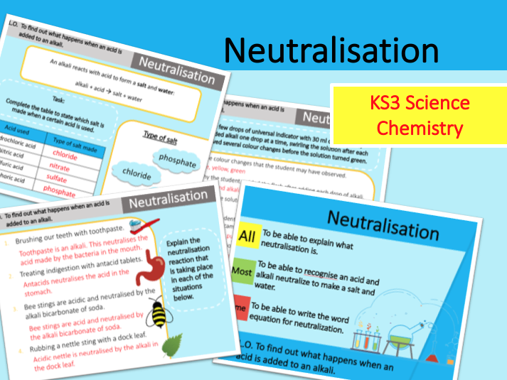 Neutralisation | Neutralization | Acids and Alkalis | Acids and Bases | KS3 Science Chemistry