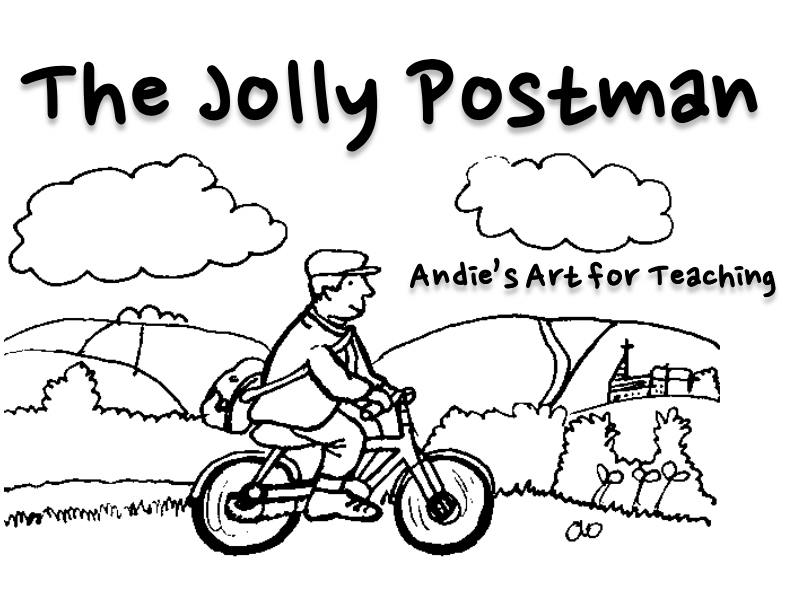 Jolly Postman: Cut, Stick colour story map The postman's journey