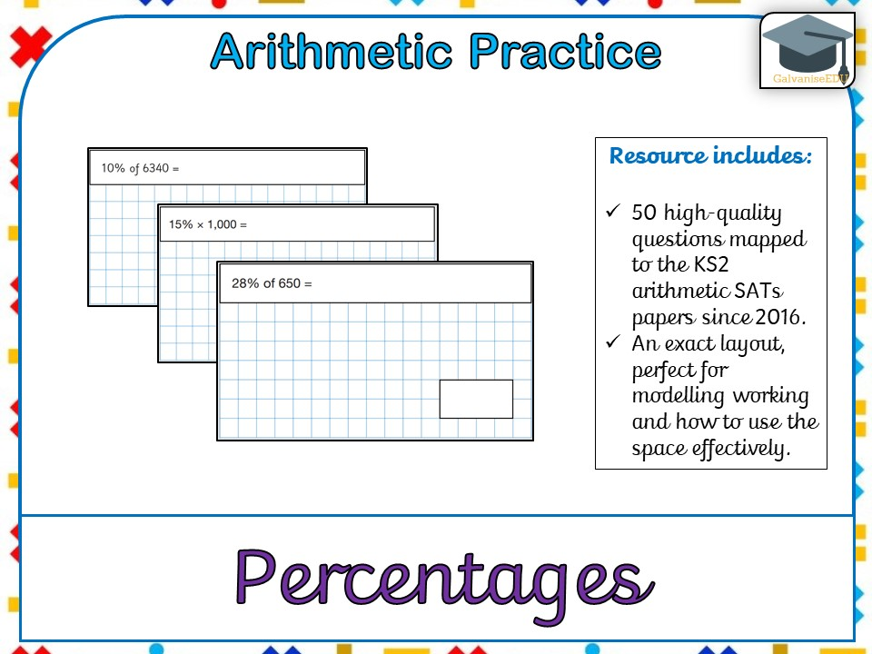 KS2 SATs Arithmetic Practice - Percentages