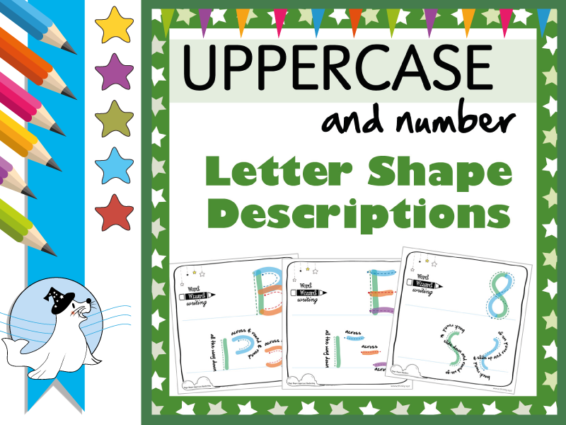 Uppercase Letter Descriptions & Numbers