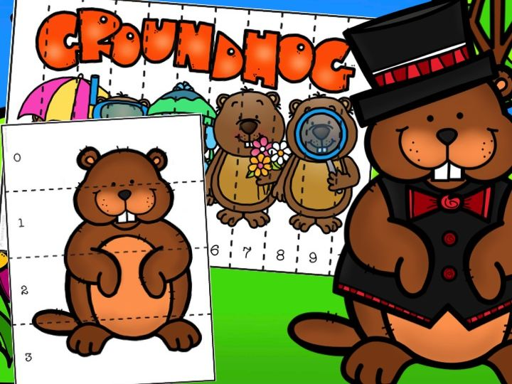 Groundhog Number Puzzles Counting to 10