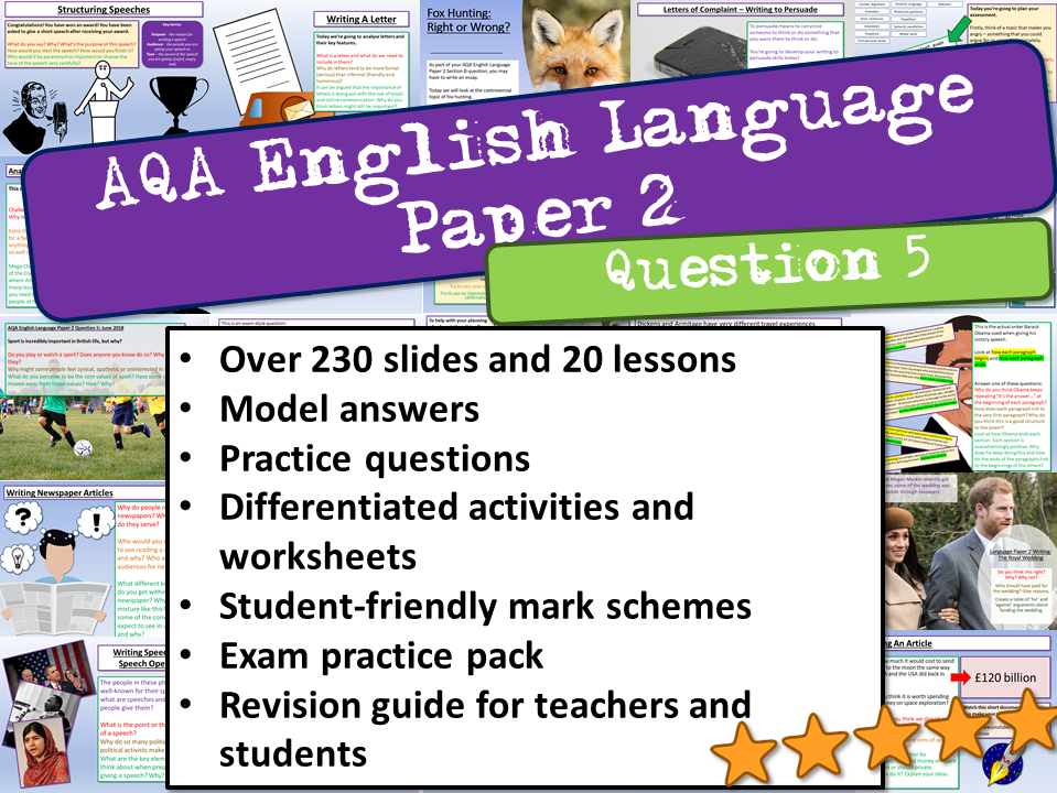 AQA English Language Paper 2 Question 5