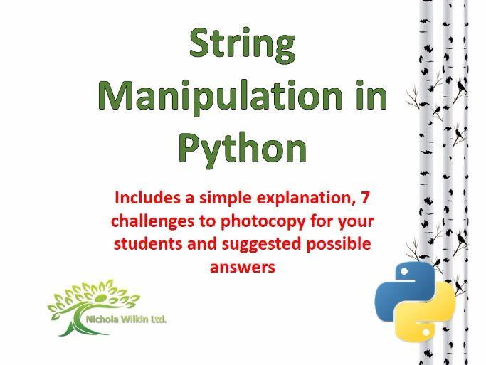 String Manipulation in Python
