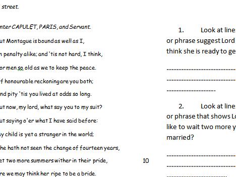 Romeo and Juliet Act 1 Scene 2