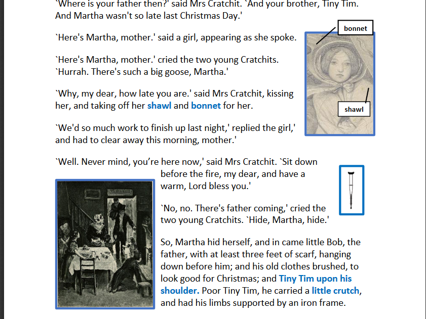 A Simplified version of A Christmas Carol plus extensive activities booklet