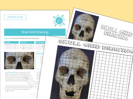 Skull Grid Drawing Sub / Cover Lesson