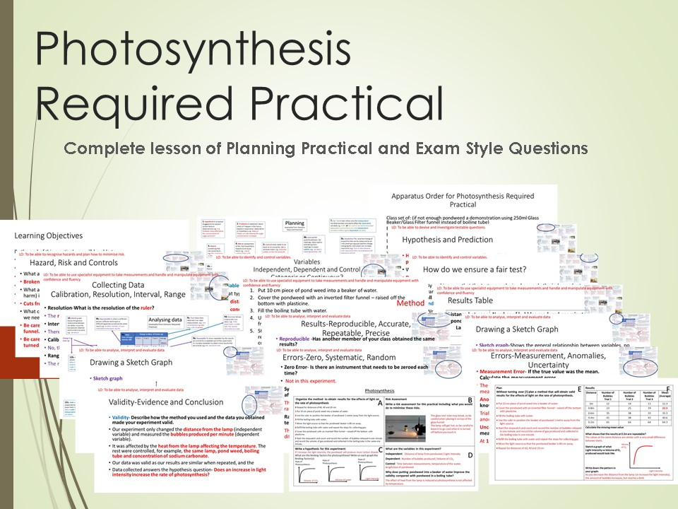 Photosynthesis Required Practical Lesson
