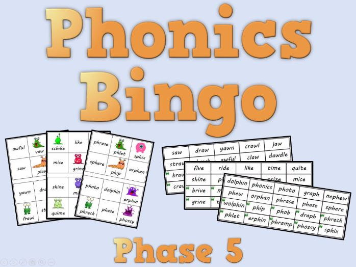 Phonics Bingo – Phase 5