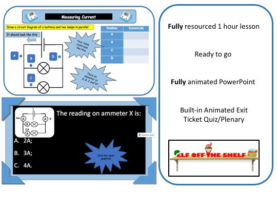 Electricity - Current  in Series and Parallel Circuits KS3 - Animated PowerPoint and Resources