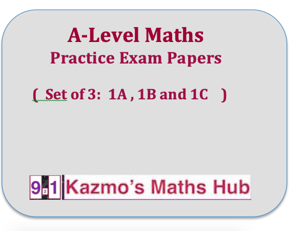 A-Level Mathematics:  Pure Exam Papers ( 3 in a Bundle )
