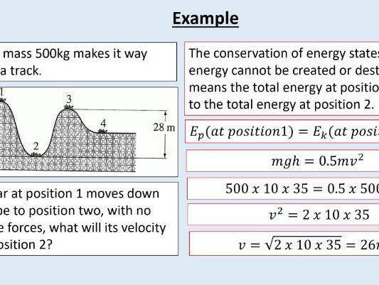 AQA GCSE Physics (4.1.1.2+3) - Energy - Changes in energy
