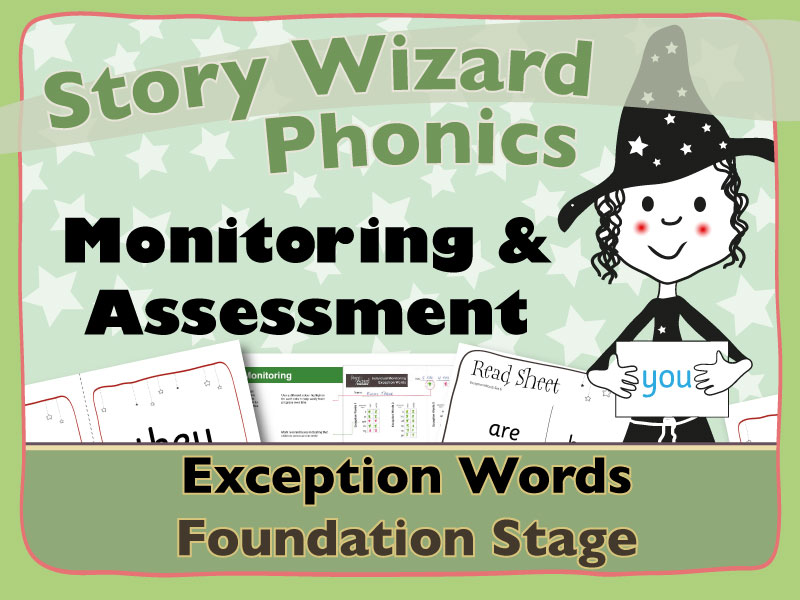Phonics Monitoring Assessment Tracking: Exception Words Foundation Stage