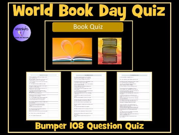 World Book Day - 108 Question Book Quiz