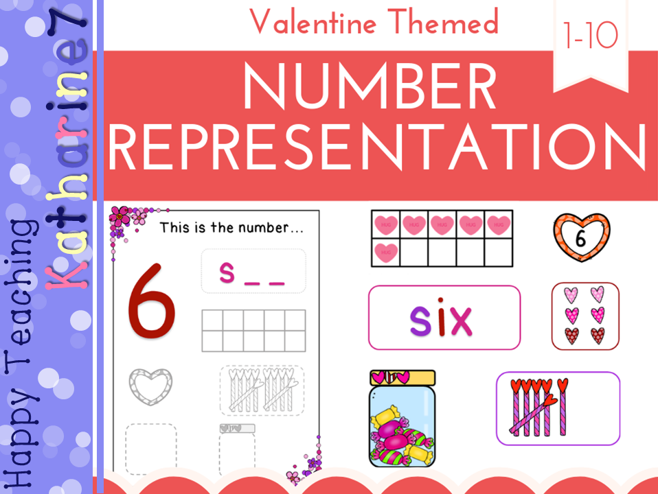 Varied number representations - Valentine's Day