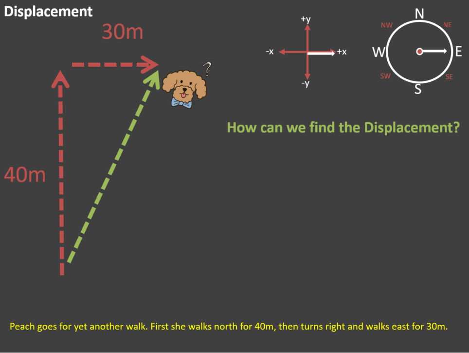GCSE - Physics - Scalars and Vectors - Distance and Displacement